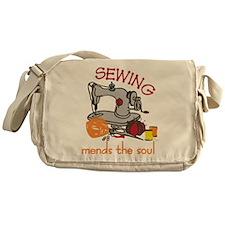 Sewing Mends The Soul Messenger Bag
