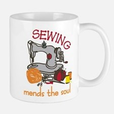 Sewing Mends The Soul Small Small Mug