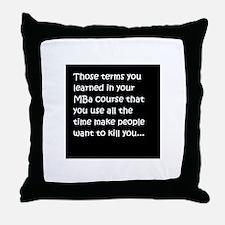MBA Throw Pillow