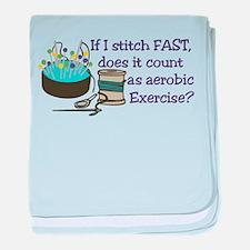 If I Stitch Fast... baby blanket