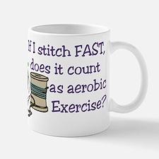 If I Stitch Fast... Small Mugs