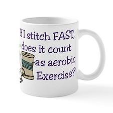 If I Stitch Fast... Small Small Mug