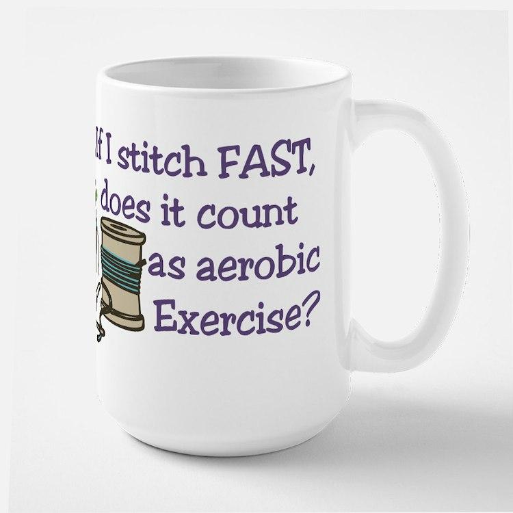 If I Stitch Fast... Mug