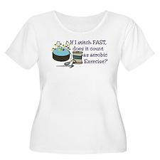 If I Stitch Fast... Plus Size T-Shirt