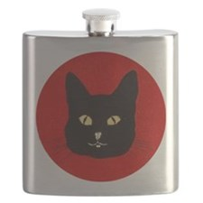 Black Cat Face Flask