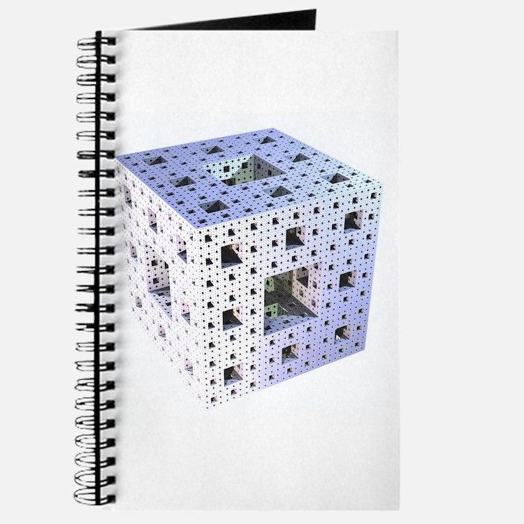 Silver Menger Sponge Fractal Journal