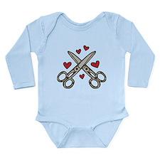 Hairdresser Love Long Sleeve Infant Bodysuit