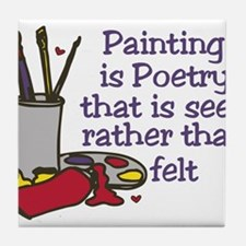 Painting is Poetry Tile Coaster