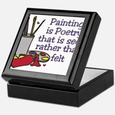 Painting is Poetry Keepsake Box