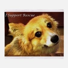 I Support Rescue Throw Blanket