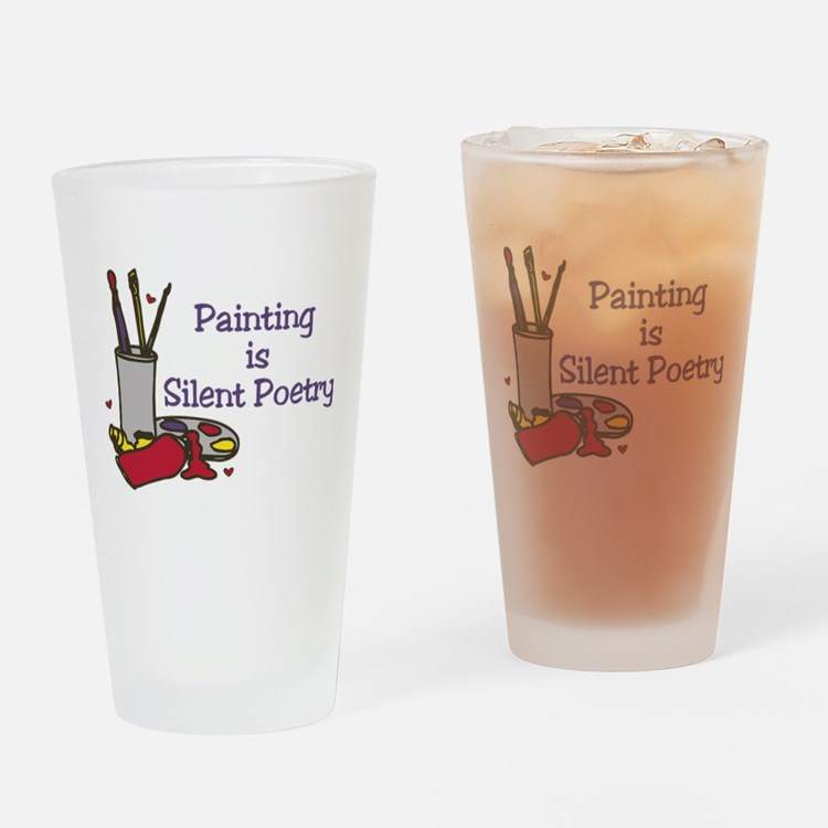 Silent Poetry Drinking Glass