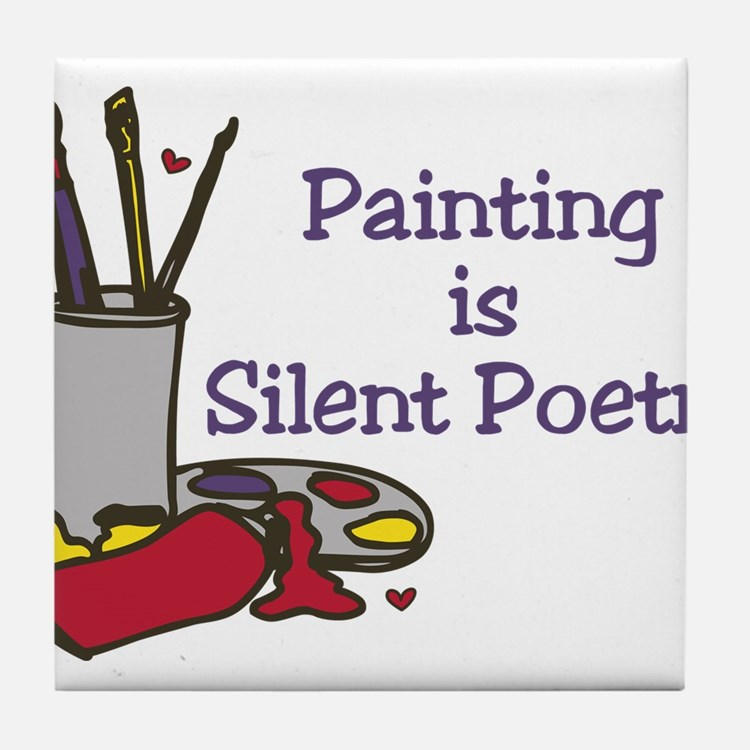 Silent Poetry Tile Coaster