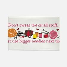 Use Bigger Needles Rectangle Magnet