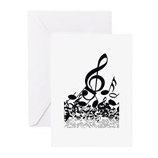 Music Notes Greeting Cards