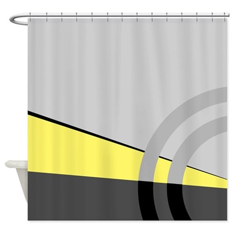 Gray And Yellow Majestic Shower Curtain By