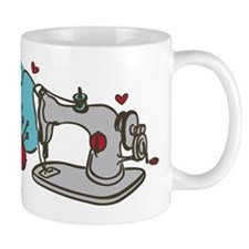 Sewing Supplies Small Mugs