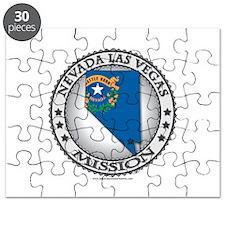 Nevada Las Vegas LDS Mission State Flag Cutout Puz