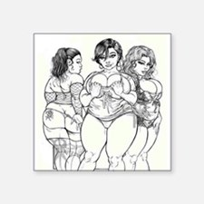 "Big Beautiful Women t shirt Square Sticker 3"" x 3"""
