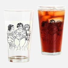 Big Beautiful Women t shirt Drinking Glass