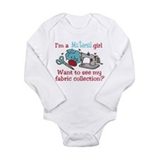 Material Girl Long Sleeve Infant Bodysuit