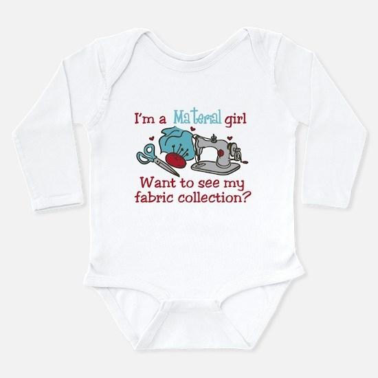 Material Girl Long Sleeve Infant Bodysuit