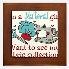 Material Girl Framed Tile