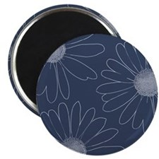 Blue and White Daisies Magnet
