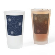 Blue and White Daisies Drinking Glass