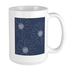 Blue and White Daisies Mug