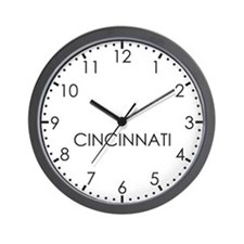 CINCINNATI Modern Newsroom Wall Clock