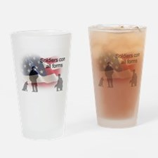 K-9 soldiers Drinking Glass