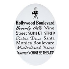 Hollywood Streets Ornament (Oval)