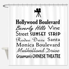 Hollywood Streets Shower Curtain