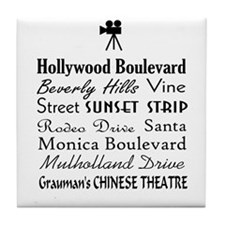 Hollywood Streets Tile Coaster