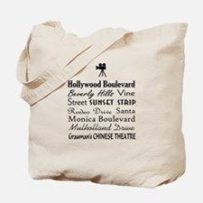 Hollywood Streets Tote Bag