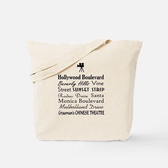 Hollywood Streets Tote Bag