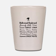 Hollywood Streets Shot Glass