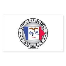 Iowa Des Moines LDS Mission State Flag Cutout Stic