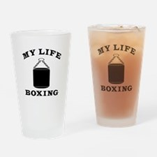 My Life Boxing Drinking Glass