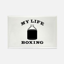 My Life Boxing Rectangle Magnet