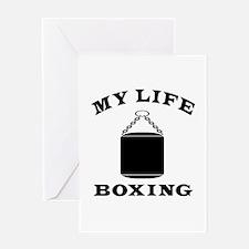 My Life Boxing Greeting Card