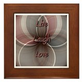Live laugh love tile Framed Tiles