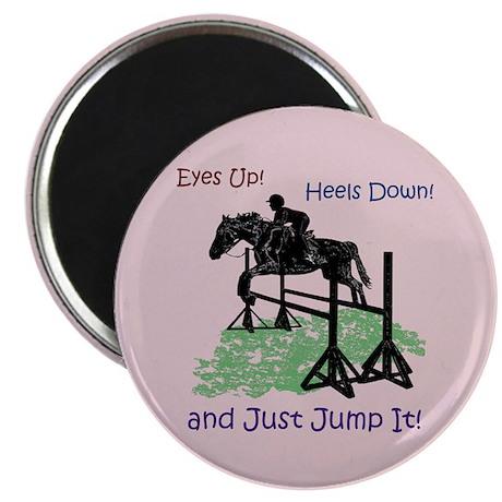 """Fun Hunter/Jumper Equestrian Horse 2.25"""" Magnet (1"""