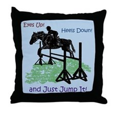 Fun Hunter/Jumper Equestrian Horse Throw Pillow