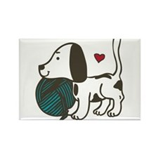 Puppy Playtime Rectangle Magnet