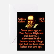 Some Years Ago - Galileo Greeting Cards