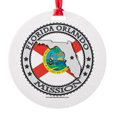 Florida Orlando LDS Mission State Flag Cutout Orna