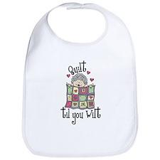 Quilt 'Til You Wilt Bib