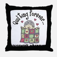 Quilting Forever Throw Pillow