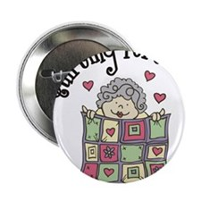 "Quilting Forever 2.25"" Button"